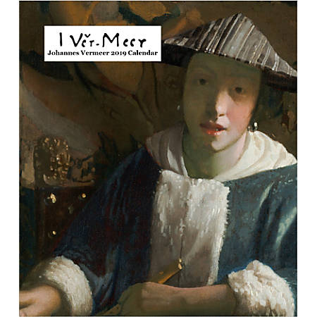 "Retrospect Monthly Desk Calendar, Johannes Vermeer, 6-1/4"" x 5-1/4"", Multicolor, January to December 2019"