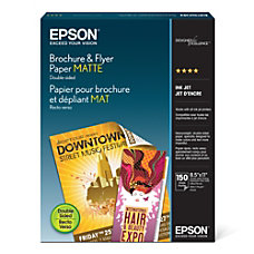 Epson Brochure Flyer Paper Matte Double