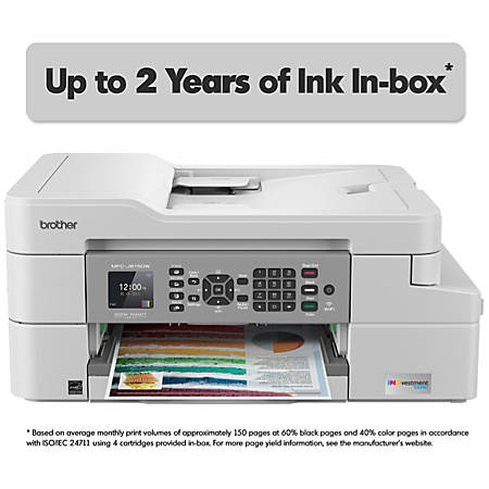 Brother INKvestment Tank Wireless Color Inkjet All-In-One Printer, Copier, Scanner, Fax, MFC-J805DWXL