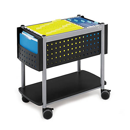 "Safco® Scoot™ File Cart, 26""H x 14 3/4""W x 28""D, Black"