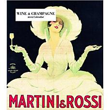 Retrospect Monthly Desk Calendar Wine Champagne