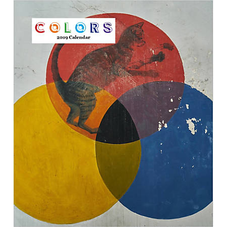 "Retrospect Monthly Desk Calendar, Colors, 6-1/4"" x 5-1/4"", Multicolor, January to December 2019"