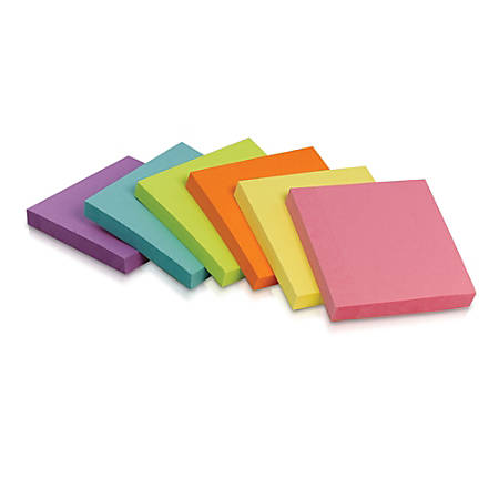 "Office Depot® Brand Self-Stick Notes, 3"" x 3"", Assorted Deep Colors, 100 Sheets Per Pad, Pack Of 12"