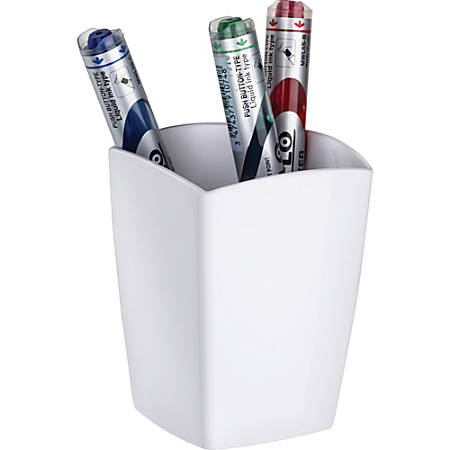 "CEP Magnetic Pencil Cup - 3.8"" x 3"" x 3"" - Polystyrene - 1 Each - White"
