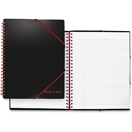 Black n' Red Twinwire Filing Notebook - Twin Wirebound - Ruled - High White Paper - 1Each