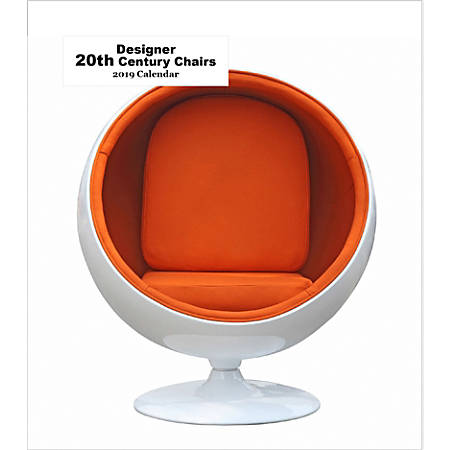 "Retrospect Monthly Desk Calendar, Designer 20th Century Chairs, 6-1/4"" x 5-1/4"", Multicolor, January to December 2019"