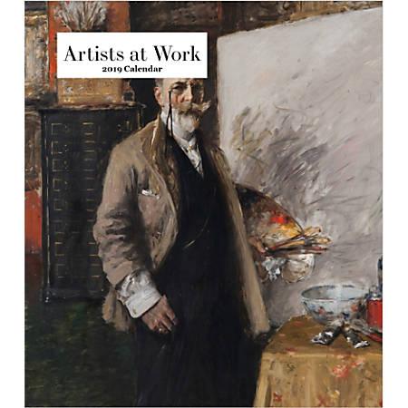 "Retrospect Monthly Desk Calendar, Artists At Work, 6-1/4"" x 5-1/4"", Multicolor, January to December 2019"