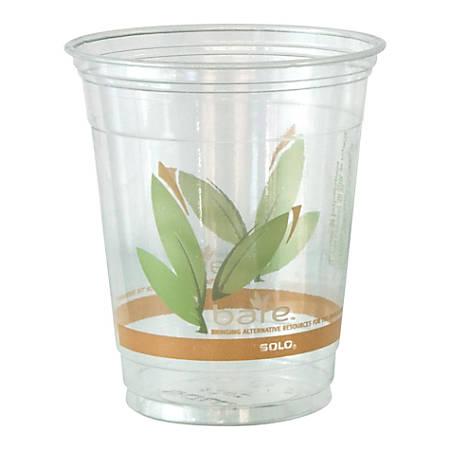 Solo® Bare® Cold Cups, RPET Plastic, 12 Oz., Case Of 1,000