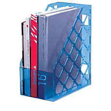 Officemate Blue Glacier Large Magazine File