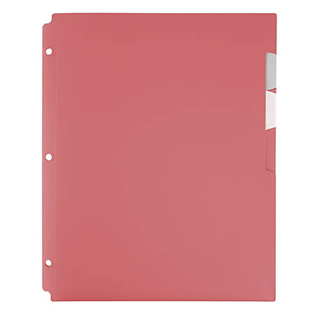 "Office Depot® 4-Pocket Binder Folder, 8-1/2"" x 11"", Pink"