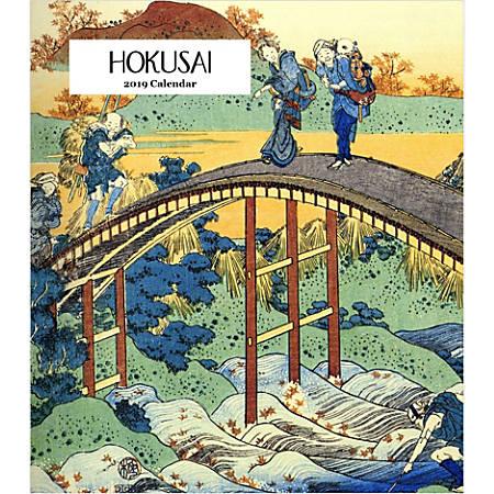 """Retrospect Monthly Desk Calendar, Hokusai, 6-1/4"""" x 5-1/4"""", Multicolor, January to December 2019"""