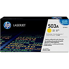HP 503A Yellow Original Toner Cartridge