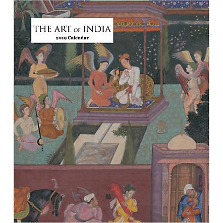 "Retrospect Monthly Desk Calendar, The Art Of India, 6-1/4"" x 5-1/4"", Multicolor, January to December 2019"