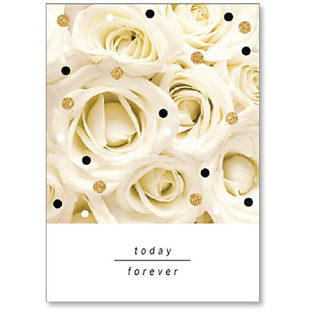 "Viabella Wedding Greeting Card With Envelope, Today Forever, 5"" x 7"""