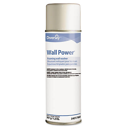 Diversey™ Wall Power® Foaming Wall Washer, 20 Oz, Pack Of 12 Cans