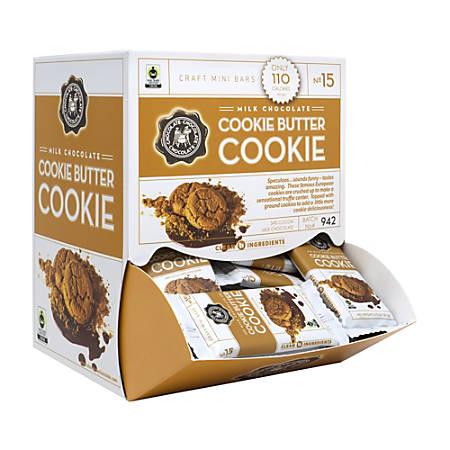 Chocolate Chocolate Chocolate Craft Mini Bars Milk Chocolate Cookie Butter Cookies, Pack Of 50 Cookies