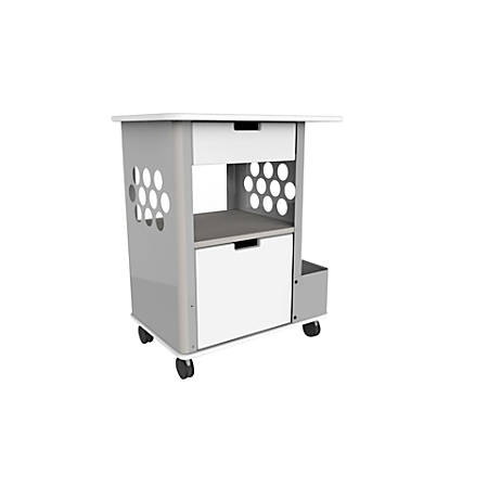 Safco® Focal™ Rolling Storage Cart, Silver