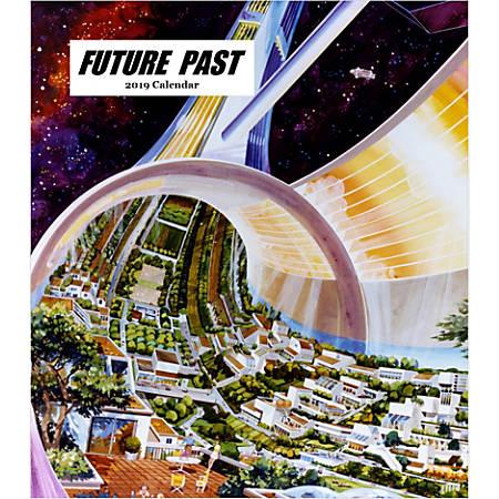 "Retrospect Monthly Desk Calendar, Vintage Future, 6-1/4"" x 5-1/4"", Multicolor, January to December 2019"