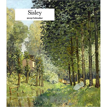 "Retrospect Monthly Desk Calendar, Alfred Sisley, 6-1/4"" x 5-1/4"", Multicolor, January to December 2019"