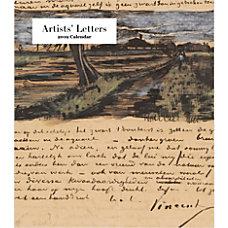 Retrospect Monthly Desk Calendar Artists Letters