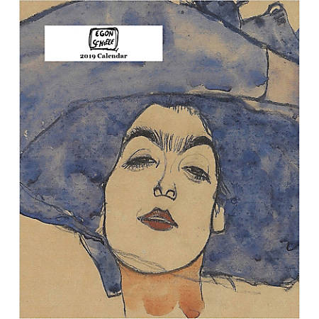"Retrospect Monthly Desk Calendar, Egon Schiele, 6-1/4"" x 5-1/4"", Multicolor, January to December 2019"
