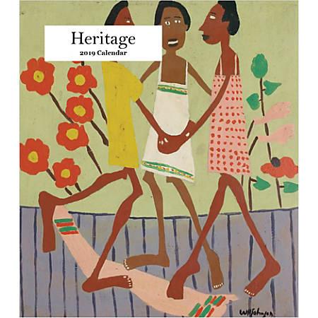 "Retrospect Monthly Desk Calendar, Heritage, 6-1/4"" x 5-1/4"", Multicolor, January to December 2019"