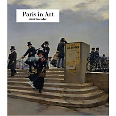 Retrospect Monthly Desk Calendar Paris In