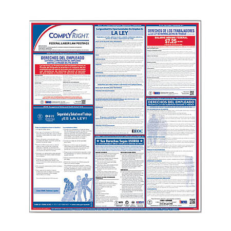 """ComplyRight™ Spanish Federal Labor Law Poster, 32 3/4"""" x 24"""""""