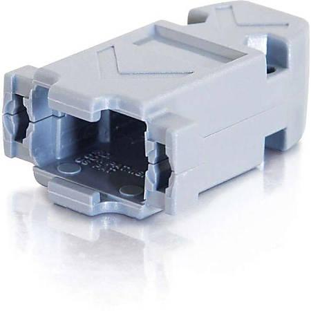 C2G DB9/HD15 Plastic Hood - Gray - 1 Pack