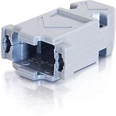 C2G DB9HD15 Plastic Hood Gray 1