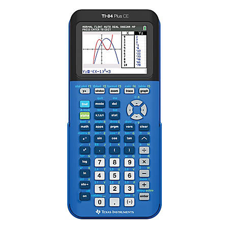 Texas Instruments TI 84 Plus CE Handheld Graphing Calculator Blue ...