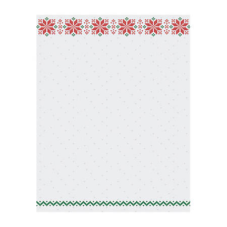 """Great Papers!® Holiday-Themed Letterhead Paper, 8 1/2"""" x 11"""", Holiday Stitch, Pack Of 80 Sheets"""