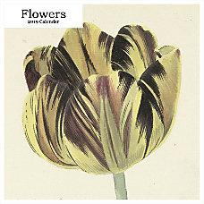 Retrospect Square Monthly Wall Calendar Flowers