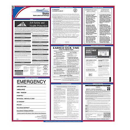 """ComplyRight™ California State Labor Law Poster, 39 1/2"""" x 24"""""""