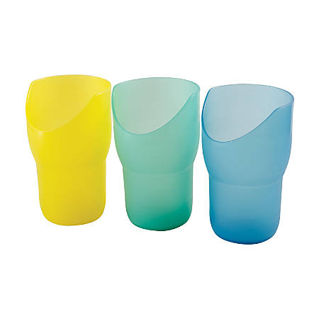 HealthSmart® Nosey Drinking Cups, 8 Oz, Assorted Colors, Set Of 3
