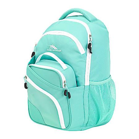 High Sierra® Wiggie Backpack And Lunch Kit Combo, Aquamarine/White