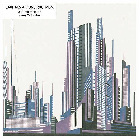 "Retrospect Square Monthly Wall Calendar, Bauhaus & Constructivism, 12-1/2"" x 12"", Multicolor, January to December 2019"