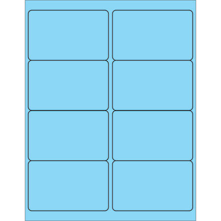 "Office Depot® Brand Labels, LL179BE, Rectangle, 4"" x 2 1/2"", Pastel Blue, Case Of 800"