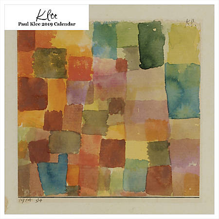 """Retrospect Square Monthly Wall Calendar, Paul Klee, 12-1/2"""" x 12"""", Multicolor, January to December 2019"""