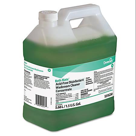 Diversey™ Bath Mate™ Acid-Free Disinfectant Washroom Cleaner Concentrate, Fresh Scent, 192 Oz Per Bottle, Case Of 2 Bottles