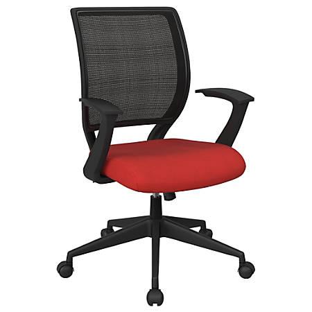 Office Star™ Work Smart Mesh Task Chair, Red/Black