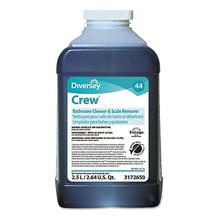 Diversey™ Crew® Bathroom Cleaner and Scale Remover, 83.2 Oz, Pack of 2 Bottles