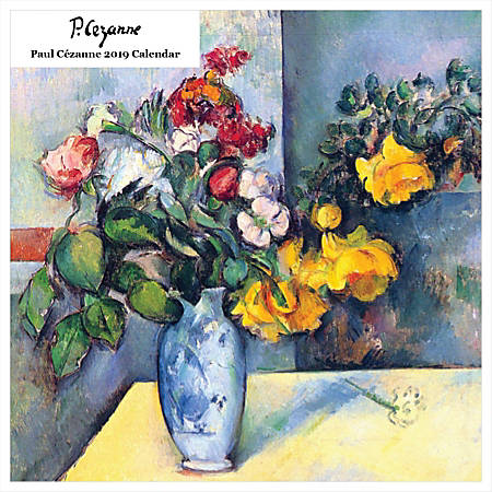 "Retrospect Square Monthly Wall Calendar, Paul Cézanne, 12-1/2"" x 12"", Multicolor, January to December 2019"