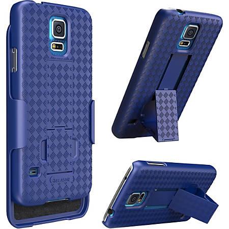 i-Blason Transformer Carrying Case (Holster) Smartphone - Blue - Fingerprint Resistant, Shatter Resistant, Drop Resistant - Rubber - Textured - Holster, Belt Clip