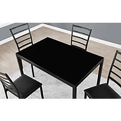Monarch Specialties Glass 5 Piece Dining