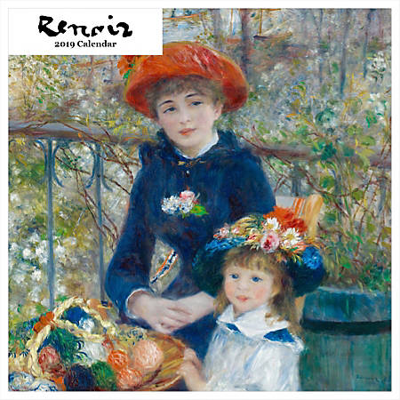 "Retrospect Square Monthly Wall Calendar, Renoir, 12-1/2"" x 12"", Multicolor, January to December 2019"