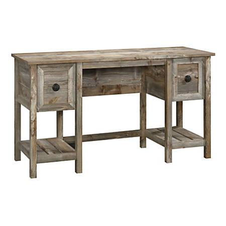 """Sauder® Granite Trace 54""""W Home Office Desk, Rustic Cedar"""
