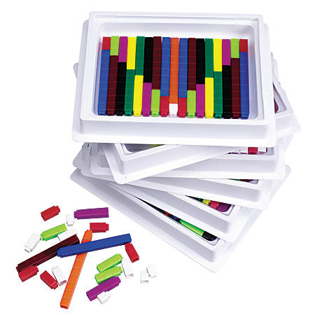 Learning Resources® Connecting Cuisenaire® Rods Multipacks, Grades Pre-K - 9, Pack Of 6