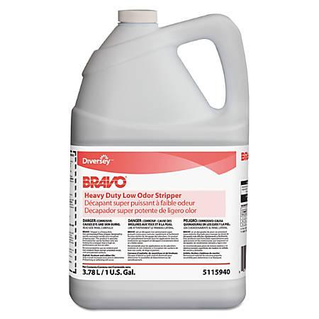 Diversey™ Bravo® Heavy-Duty Low-Odor Floor Stripper, 128 Oz, Pack Of 4 Bottles