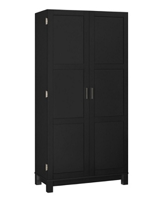 Enjoyable Ameriwood Home Carver 64 Storage Cabinet 2 Drawers 6 Shelves Black Item 8447809 Interior Design Ideas Ghosoteloinfo